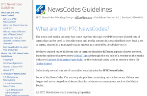 IPTC NewsCodes Guidelines document