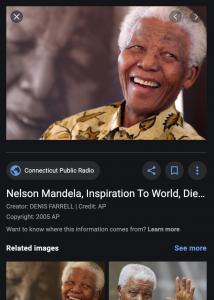 Screenshot of Google image search results panel showing IPTC metadata