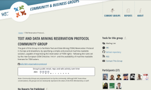 Text and Data Mining Reservation Protocol Community Group home page