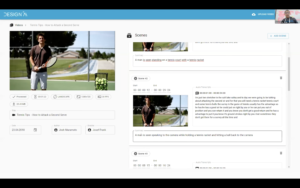 Screenshot of Videre AI's video understanding and annotation system